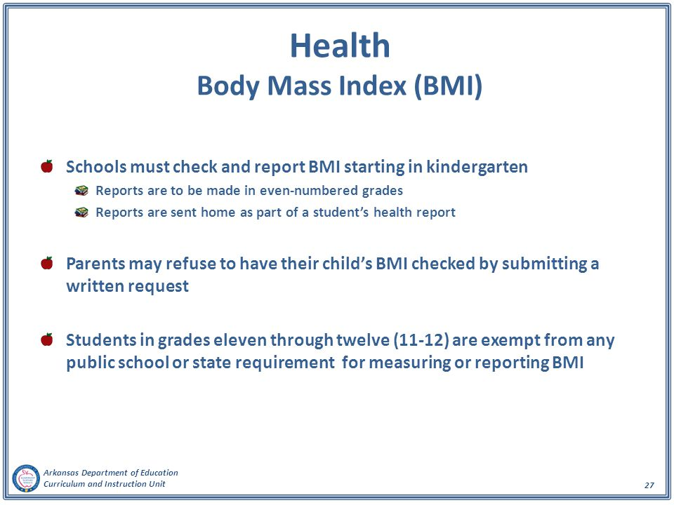 Health Body Mass Index (BMI)