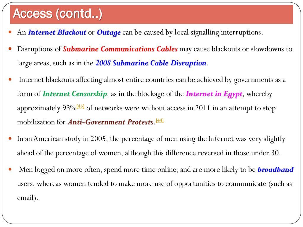 Internet  Use of Internet & Internet Internet The Internet is a