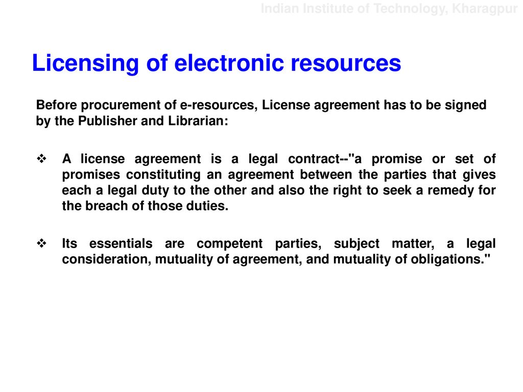 The Emerging And Future Roles Of Academic Librarians In Licensing Of