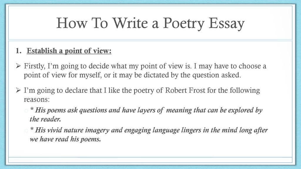 Essay Term Paper How To Write A Poetry Essay Samples Of Essay Writing In English also Theme For English B Essay How To Write A Poetry Essay  Ppt Download High School Senior Essay