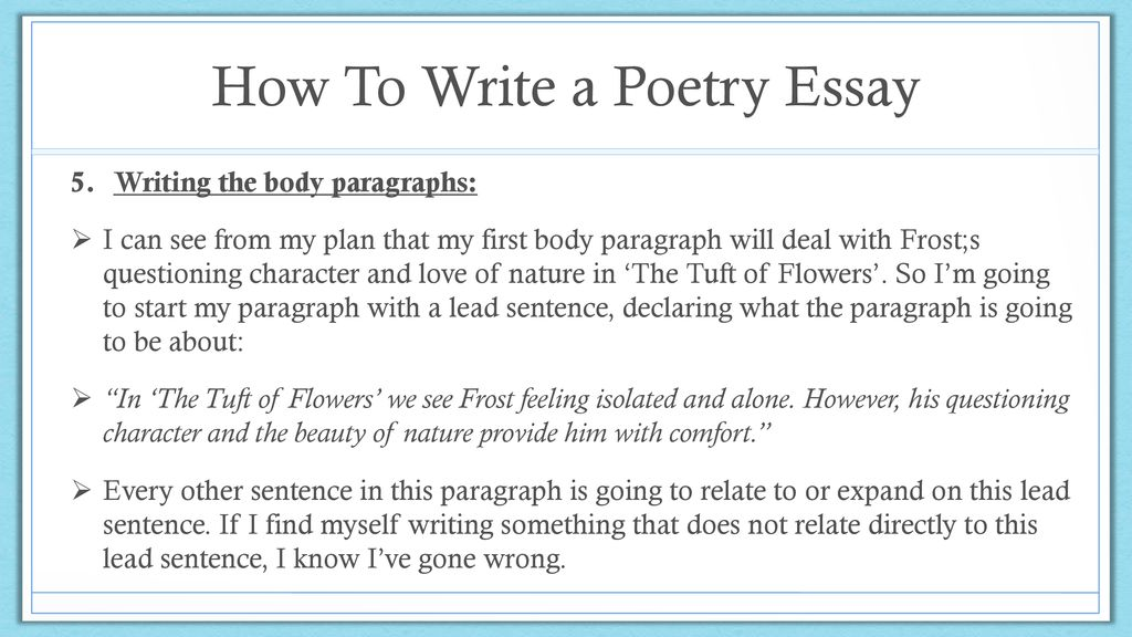 How To Write a Poetry Essay - ppt download