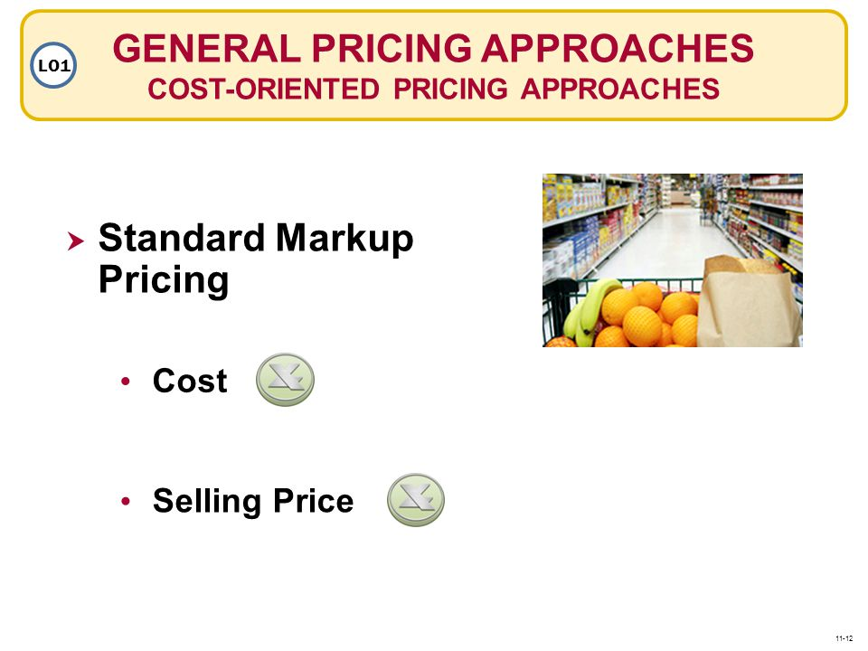 GENERAL PRICING APPROACHES COST-ORIENTED PRICING APPROACHES