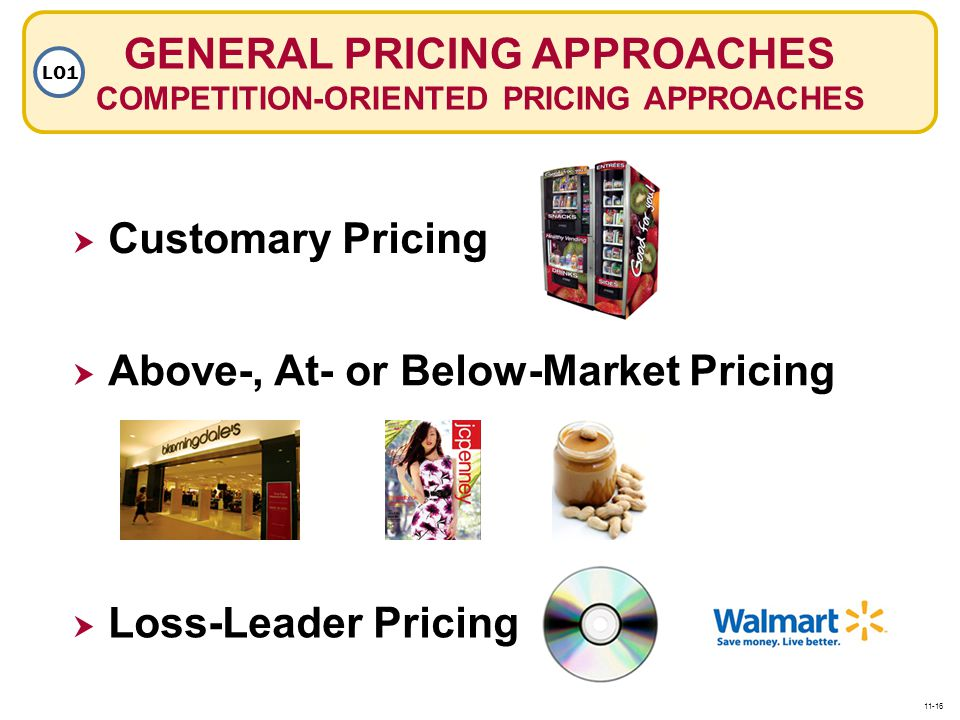 GENERAL PRICING APPROACHES COMPETITION-ORIENTED PRICING APPROACHES