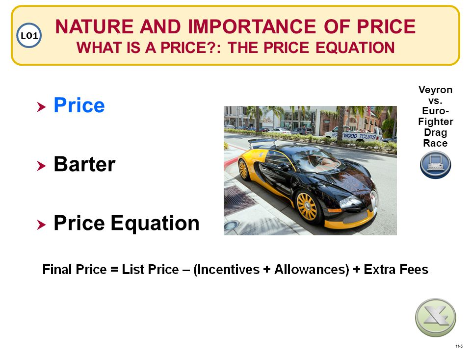 Price Barter Price Equation
