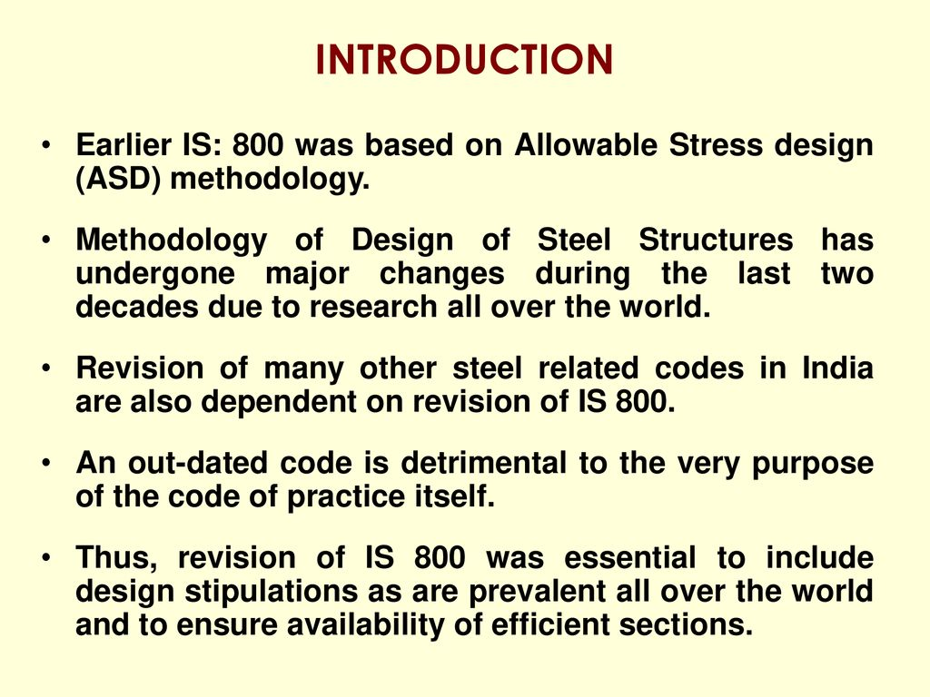 IS: Indian Code of Practice for Construction in Steel - ppt