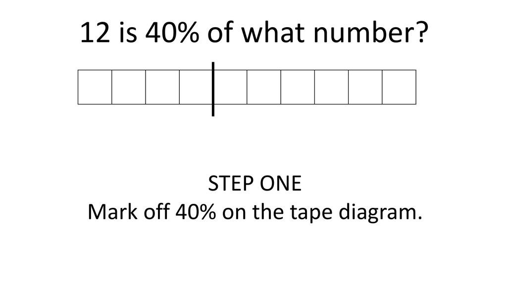Using Tape Diagrams To Find Percent Ppt Download