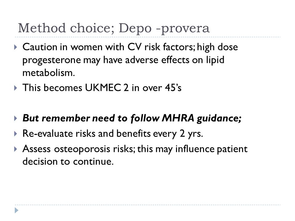 Method choice; Depo -provera