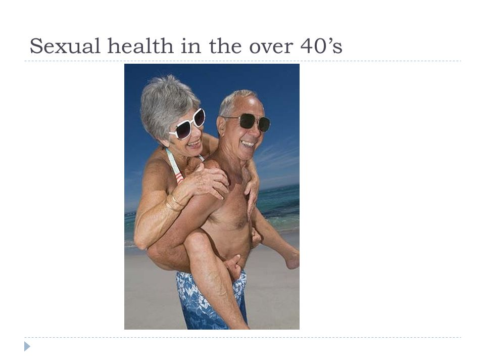Sexual health in the over 40's