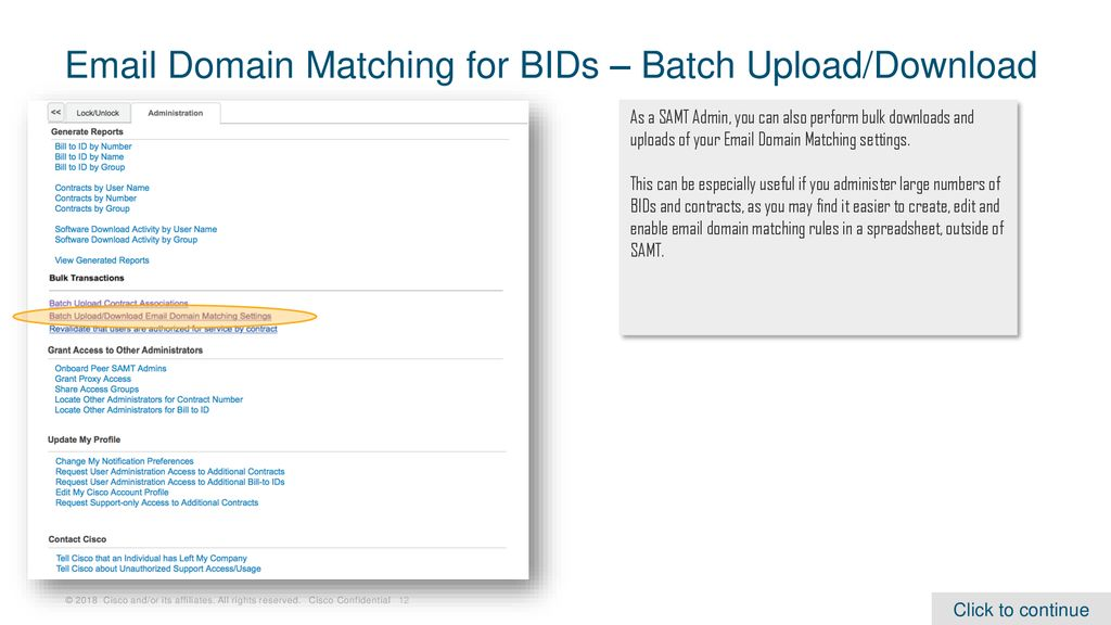 Domain Matching for BID Association Requests - ppt download