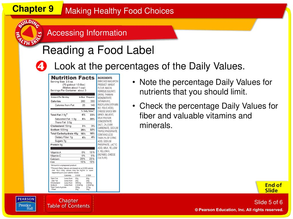 reading a food label to judge the nutritional value of a food do