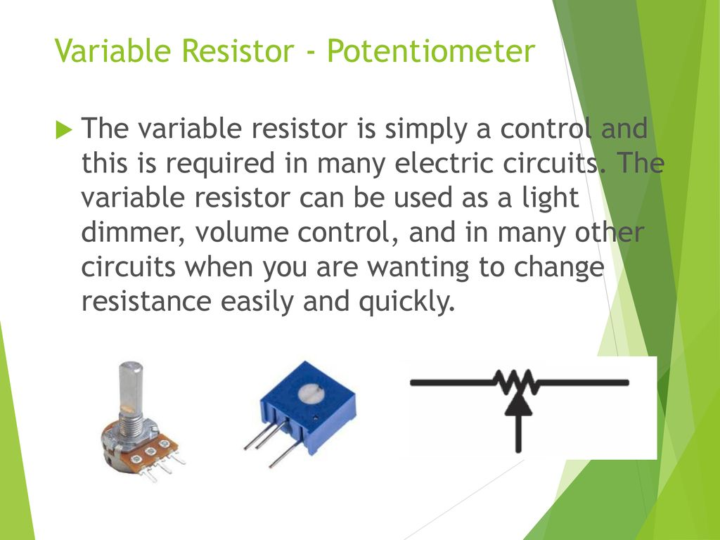 Electronic Education Kits Ppt Download Regulator Mini 9v 075a By Transistor Projects Circuits 21 Variable Resistor Potentiometer
