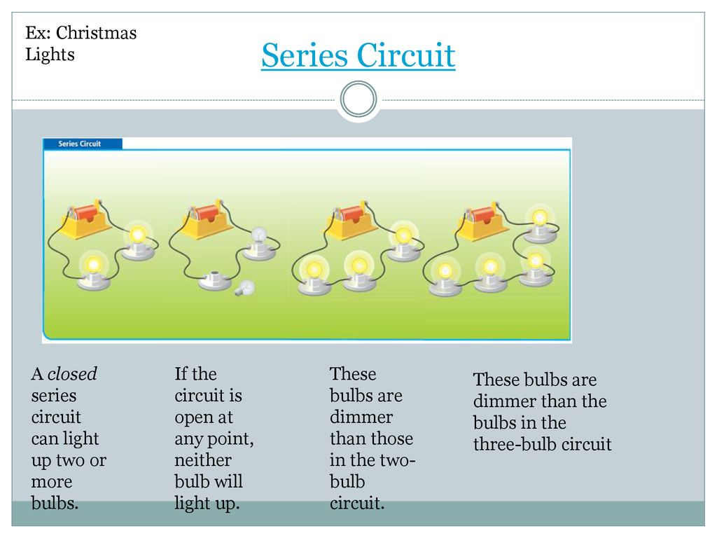 Lesson 2 What Makes A Circuit Ppt Download Christmas Lights Series 8 Ex