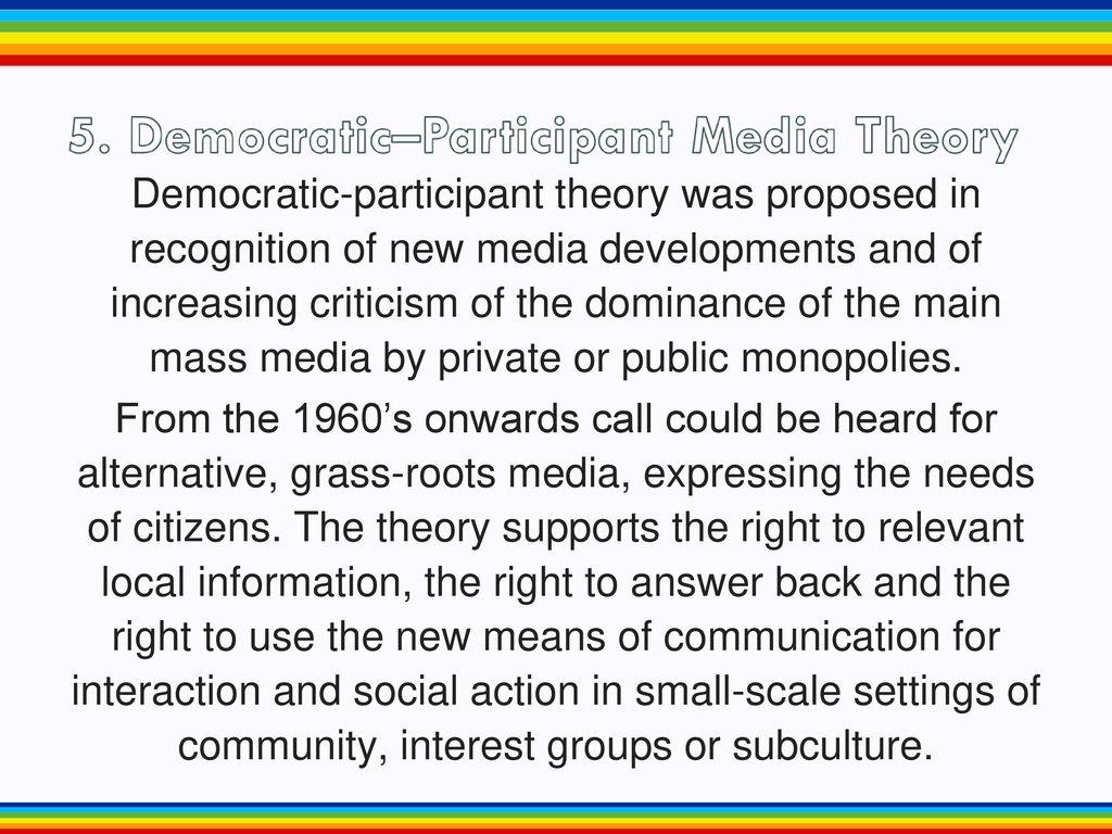 democratic participant media theory