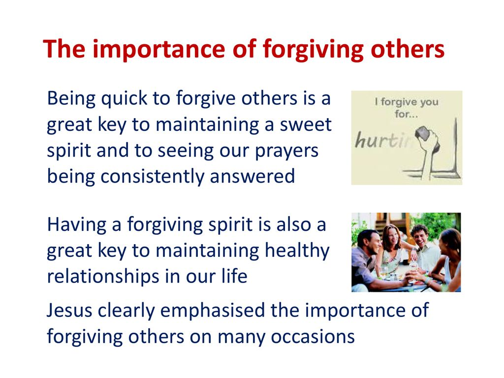 the importance of forgiving others ppt download