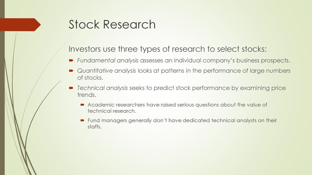Mutual Fund Management of Stock Funds - ppt download
