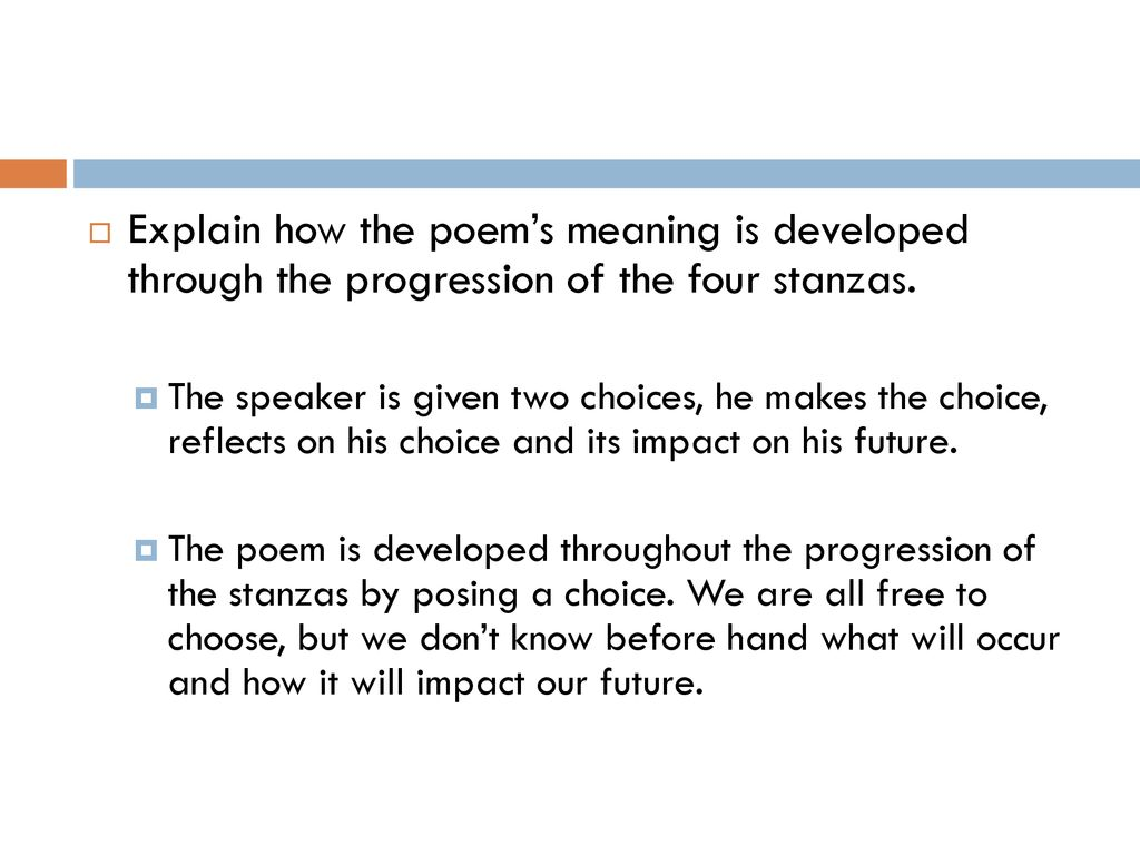 the choice poem meaning