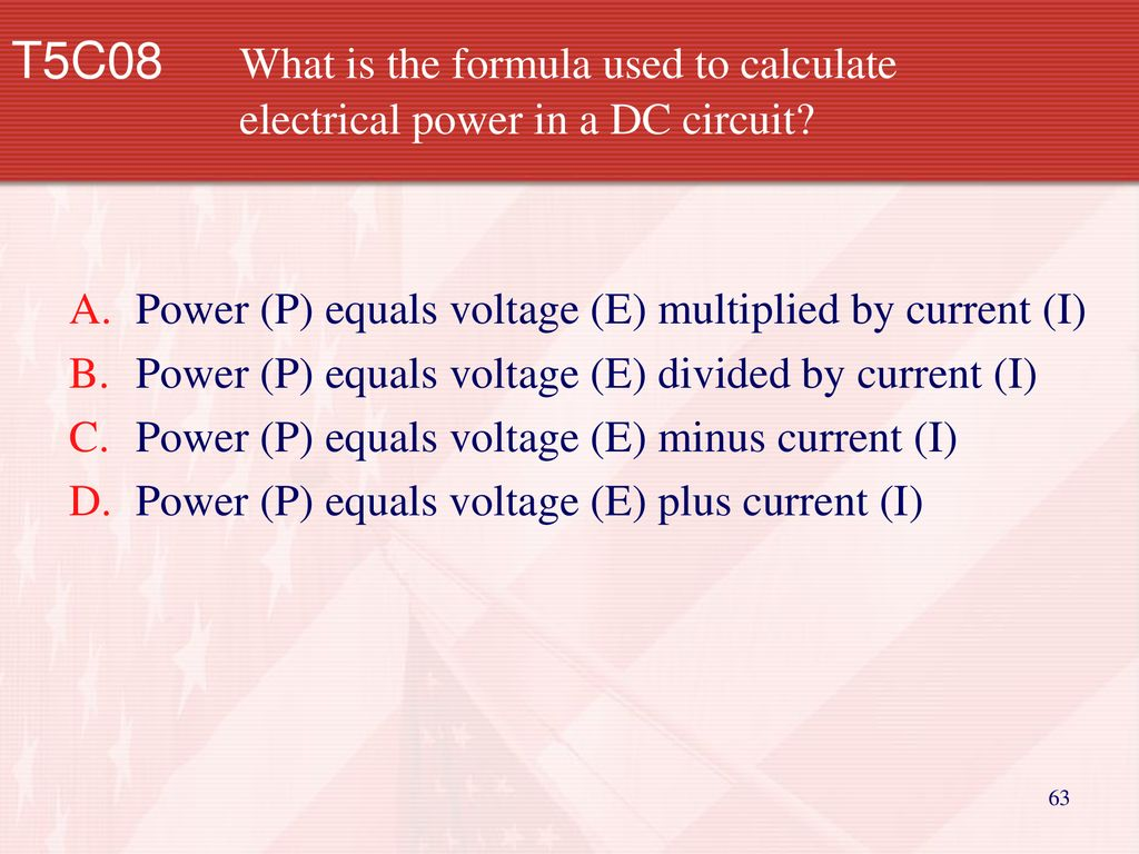 Technician Licensing Class Ppt Download Dc Circuit Calculations What Is The Formula Used To Calculate