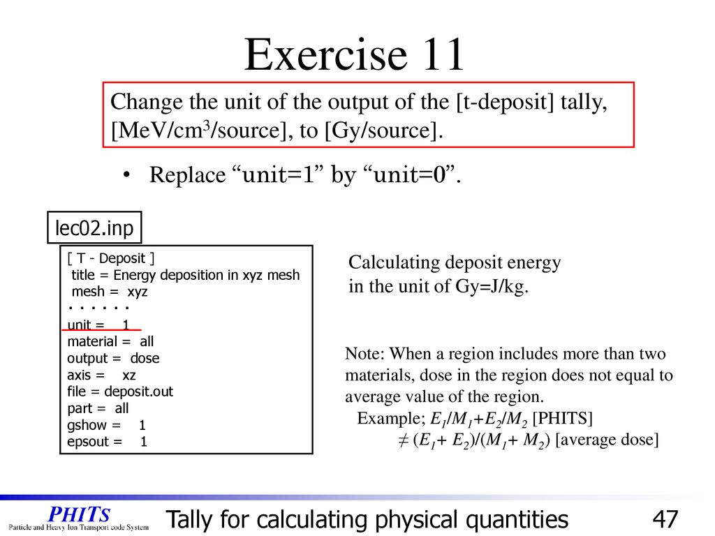 Basic Lecture II: Definition of Tally - ppt download