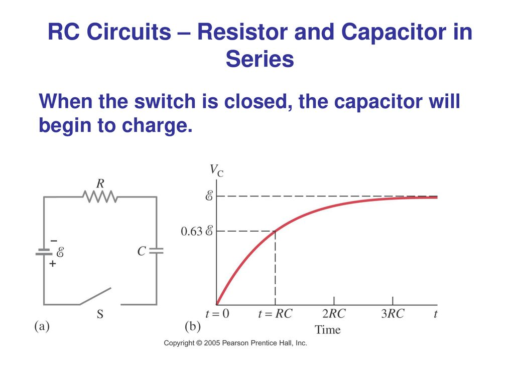 Dc Circuits Ppt Download Figure 77 A Capacitor Charge And Discharge Circuit Rc Resistor