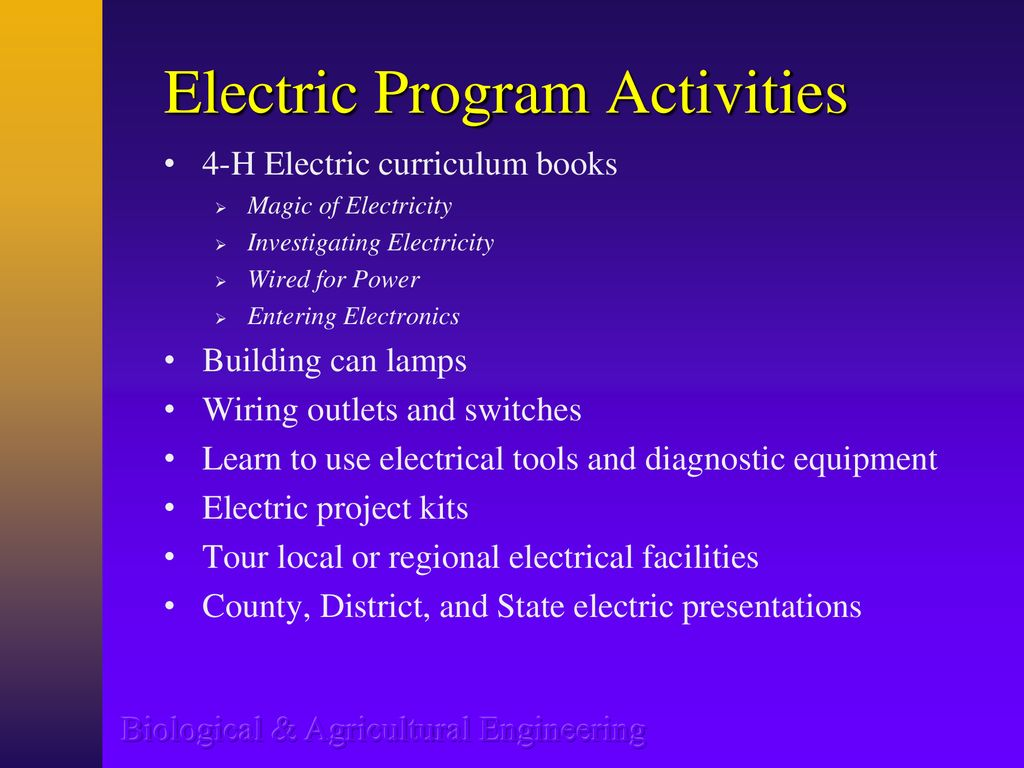 4 H Electric Program Overview Ppt Download Building Wiring Books Activities