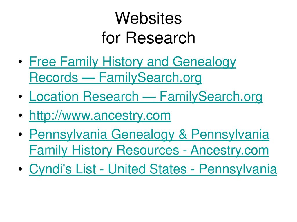 Pennsylvania Research - ppt download