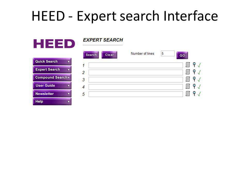 HEED - Expert search Interface