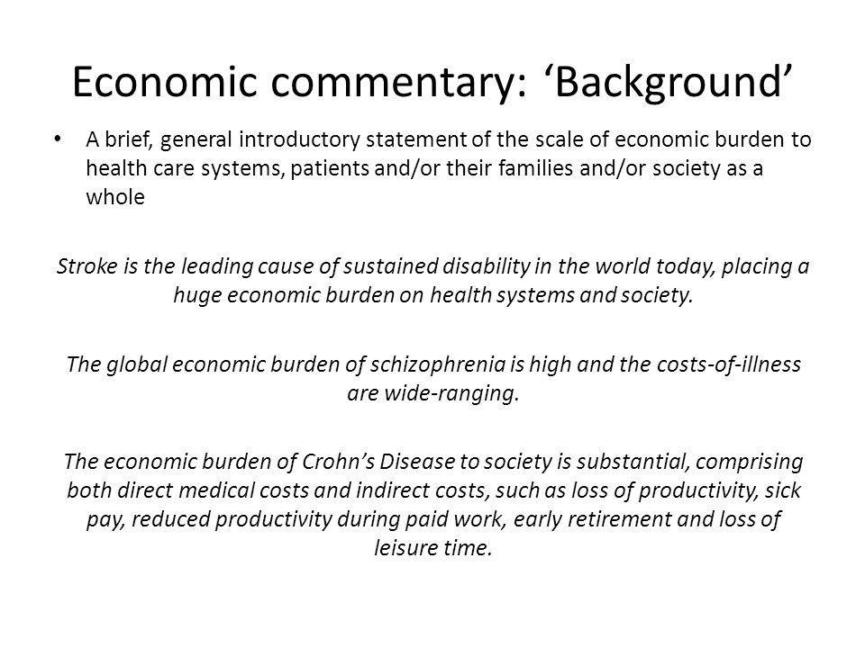 Economic commentary: 'Background'