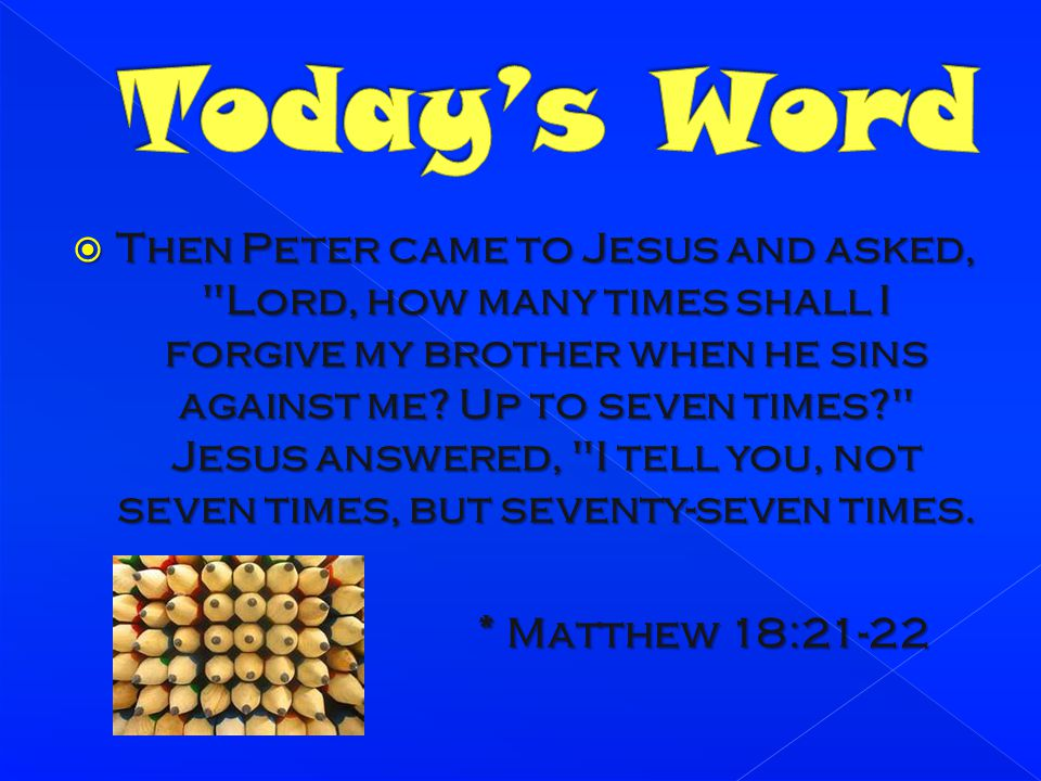 god forgives 70 times 7