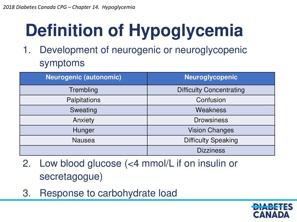 2018 clinical practice guidelines hypoglycemia - ppt download