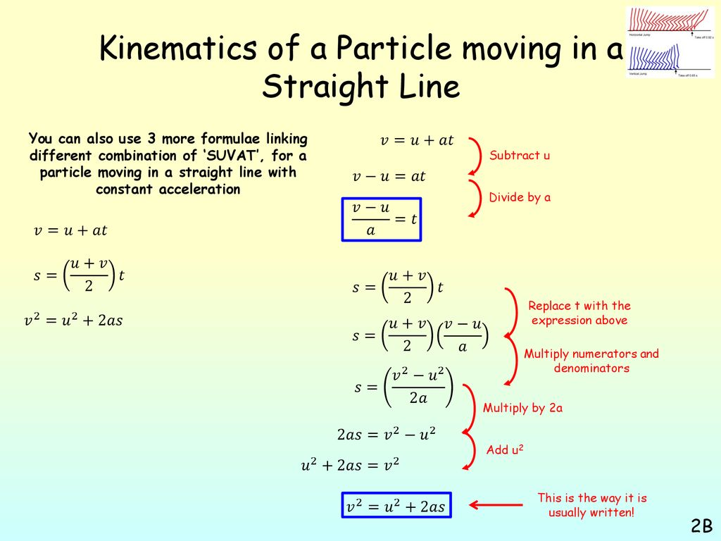 Kinematics of a particle moving in a straight line - ppt