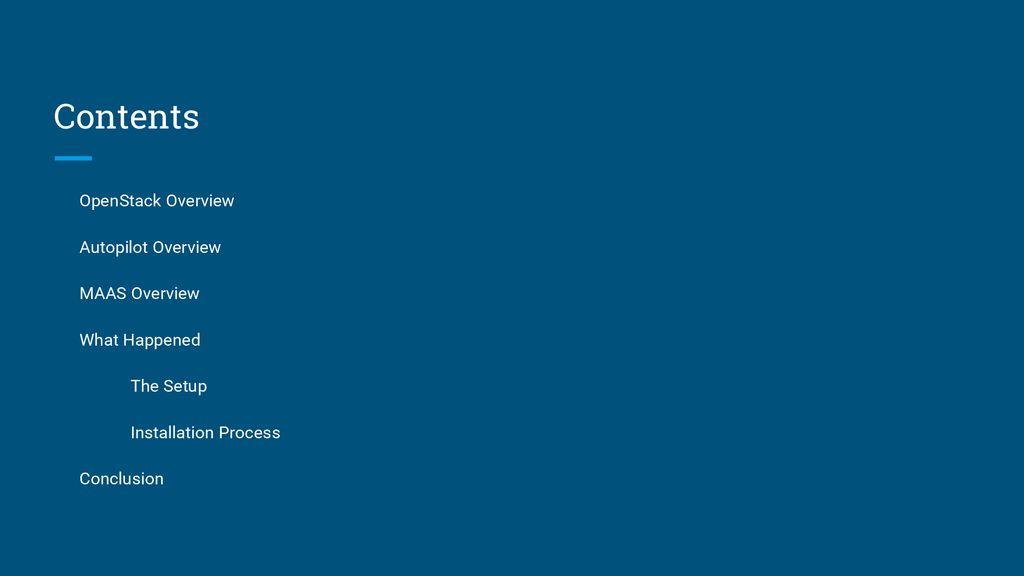 Deploy OpenStack with Ubuntu Autopilot - ppt download