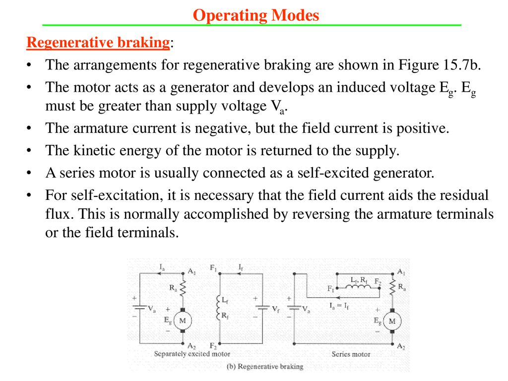 Dc And Ac Motor Drives Ppt Download Speed Picture Regenerative Braking Operating Modes