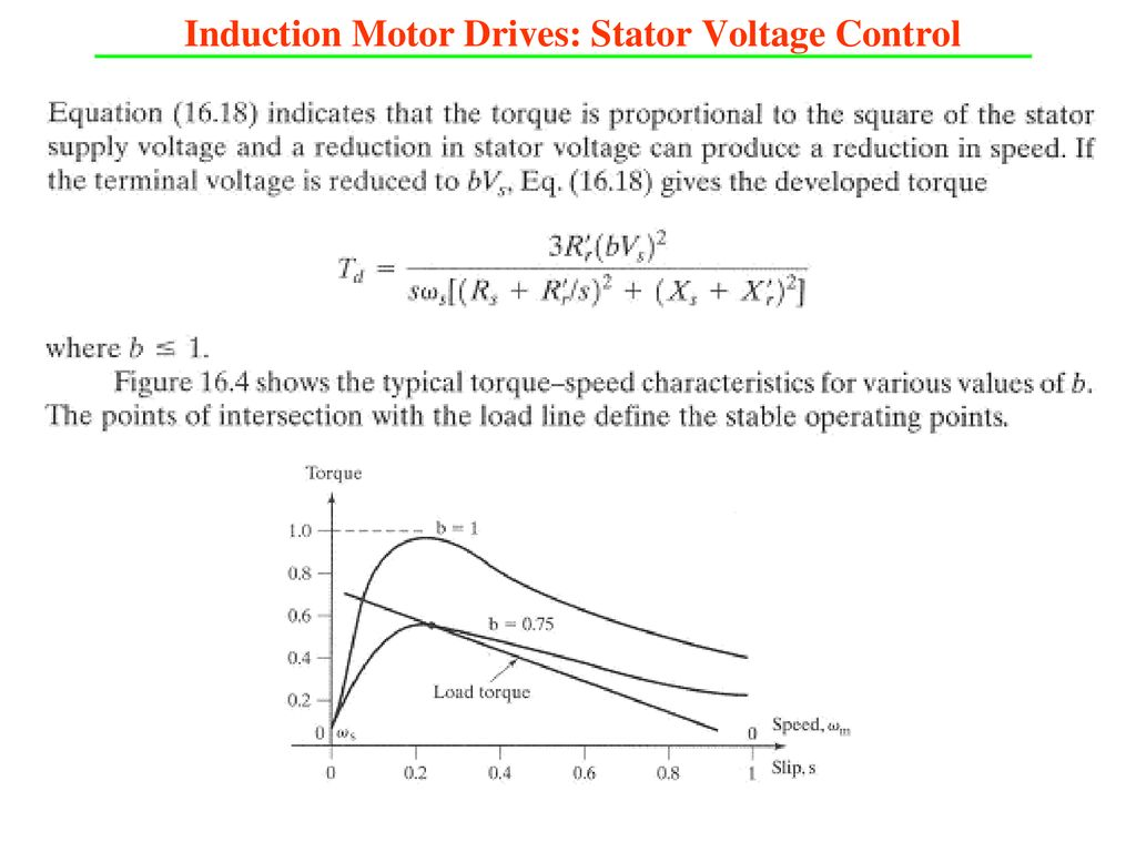 Dc And Ac Motor Drives Ppt Download Stator Voltage Control Of Three Phase Induction Fed By 33