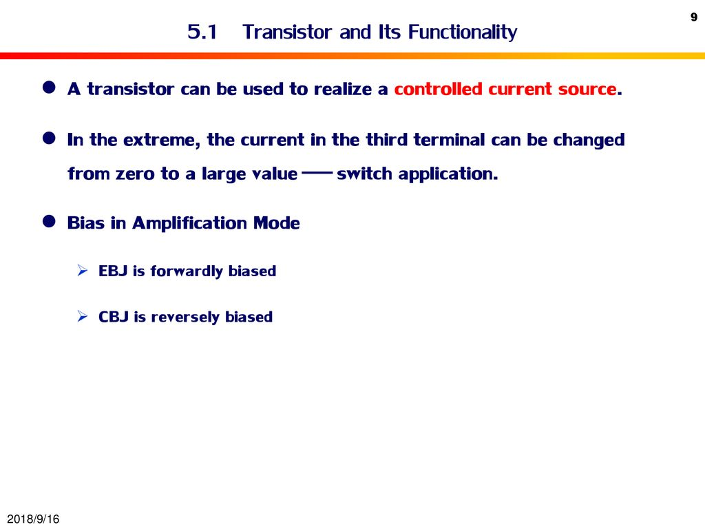 Bipolar Junction Transistor Bjt Ppt Download Current Source 51 And Its Functionality