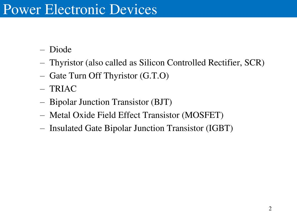 Introduction Power Electronics Ppt Download Microcontroller Based Diode And Bipolar Junction Transistor Bjt 2 Electronic Devices