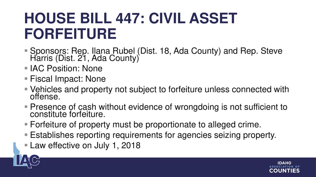 IAC Spring Legislative Review and County budget workshop