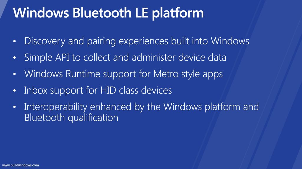 Connecting Bluetooth Low Energy devices to Windows - ppt download