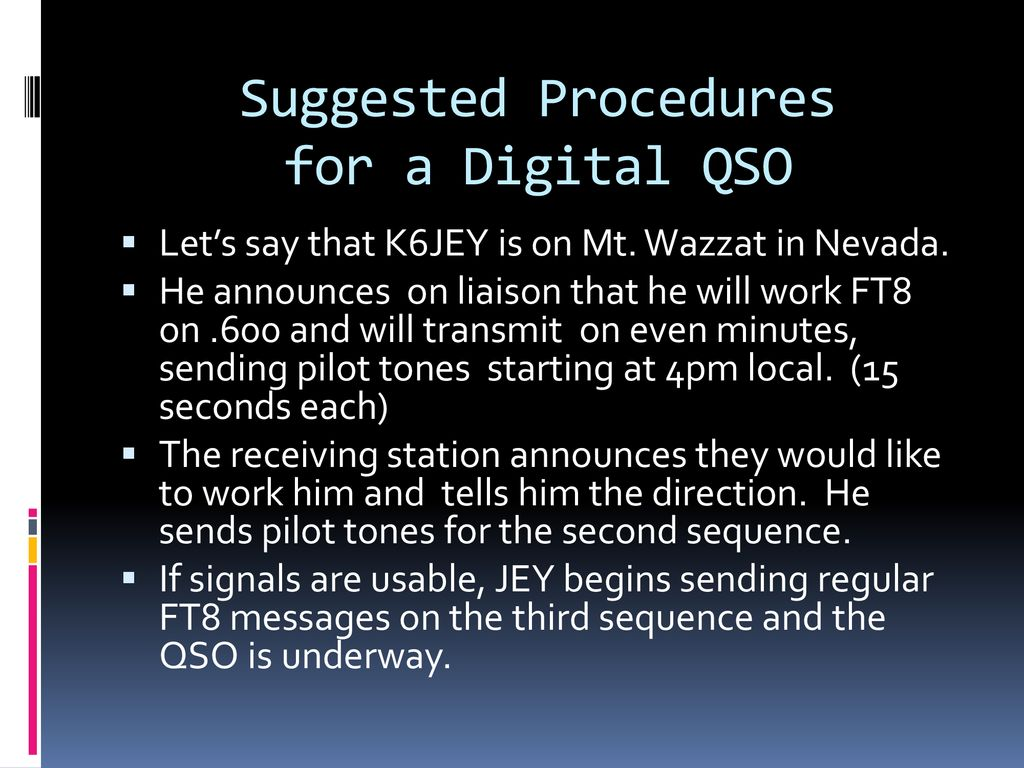 Using Digital Modes for Terrestrial Microwave QSO's - ppt