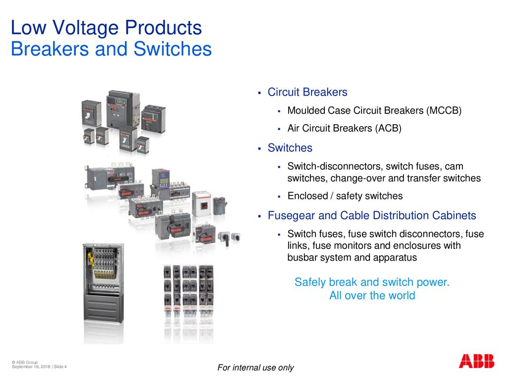 Low Voltage Products Bu Breakers And Switches Ppt Download Abb Circuit Breaker Wiring Diagram Power