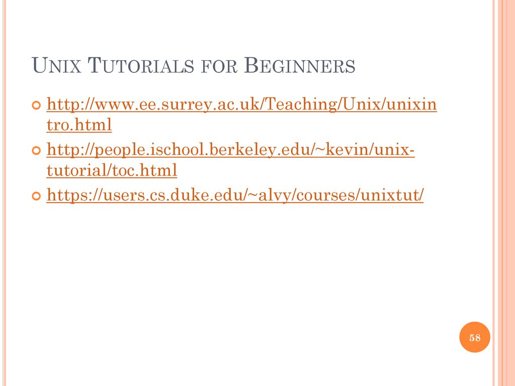 tutorial of unix commands - ppt download