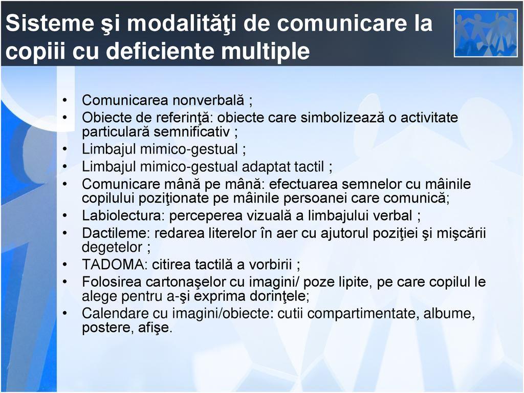 abilități de comunicare deficiență vizuală)