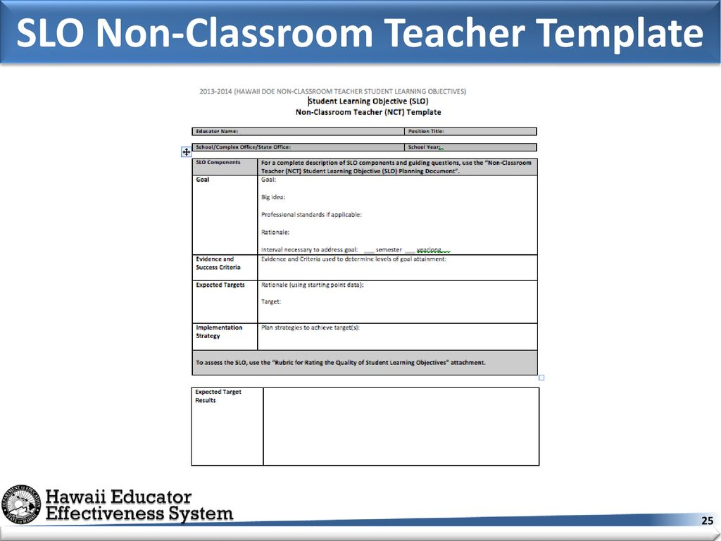 Non Classroom Teacher Nct Student Learning Objectives Ppt Download