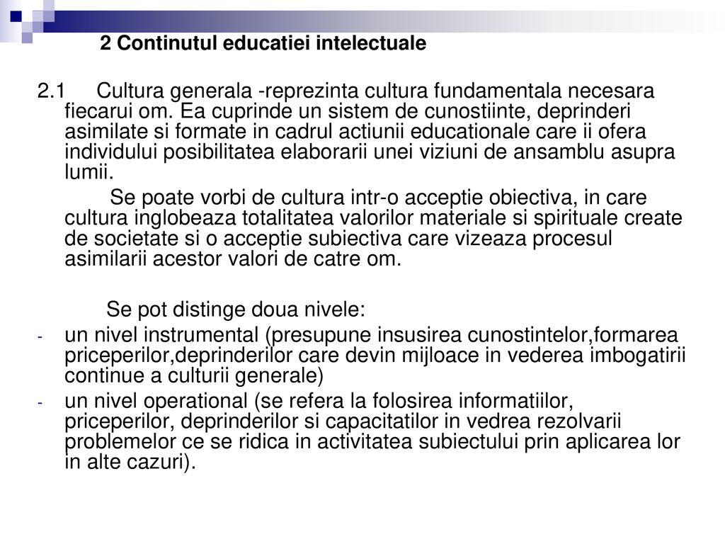 Clasificarea valorilor educationale