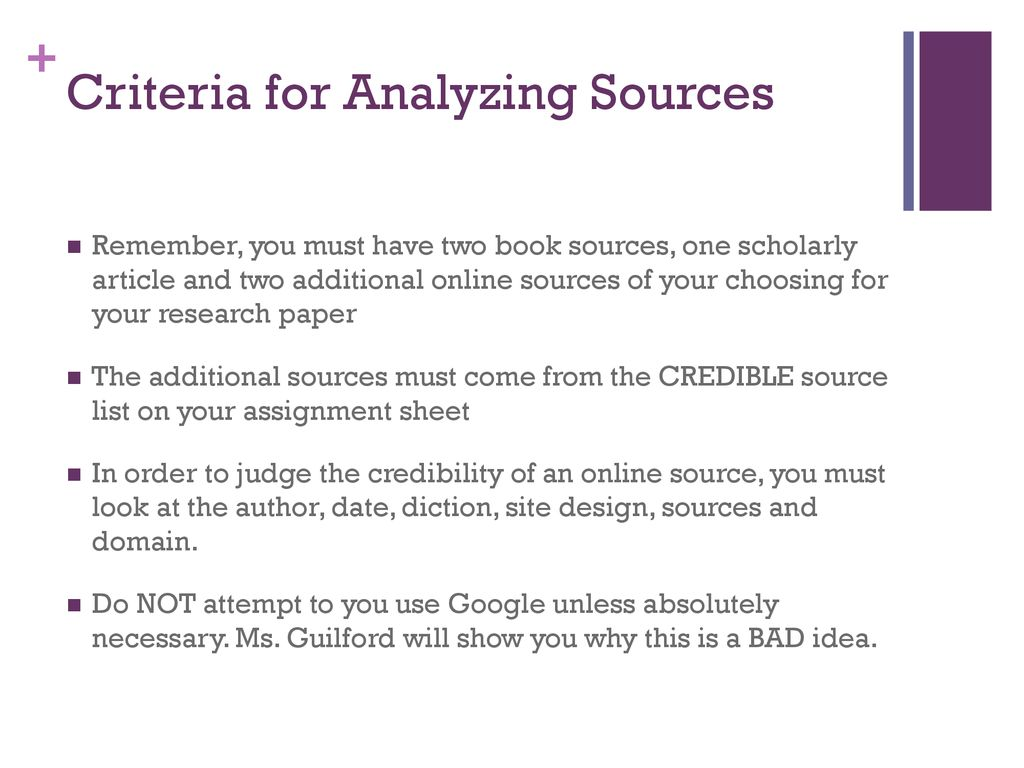 list of credible sources