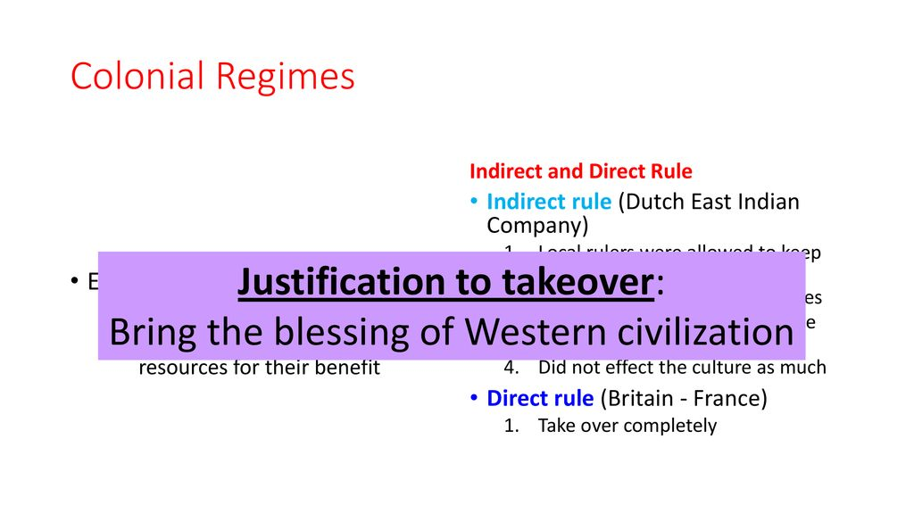 advantages of indirect rule