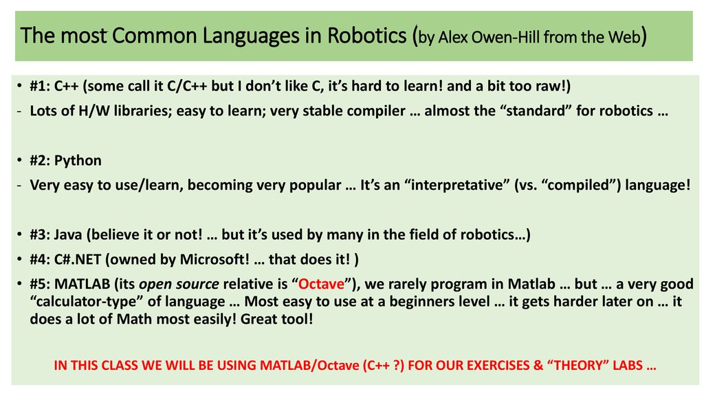 """What's this …? This is … cs4540: """"Topics in Robotics"""" - ppt"""