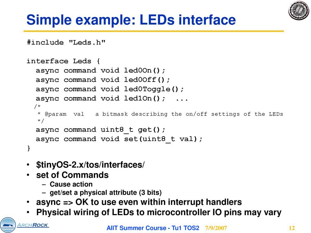 University Of California Berkeley Aiit Summer Course Tu1 Tos2 Wiring Leds In Parallel Simple Example Interface
