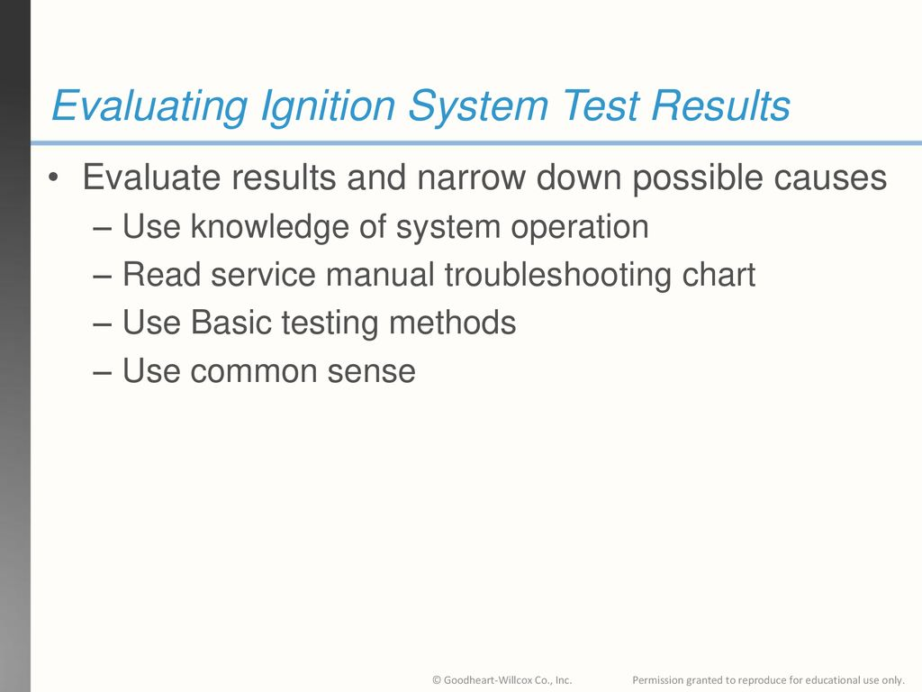 Evaluating Ignition System Test Results