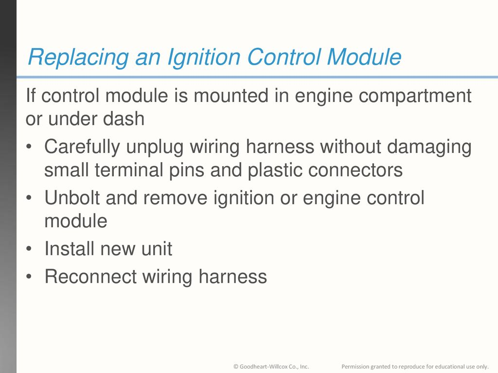 replacing an ignition control module