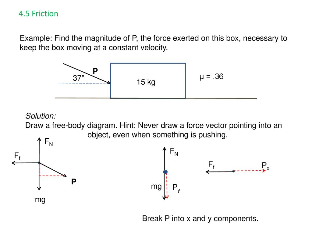 Ap Physics Chapter 4 5 Force And Motion Ppt Download Software For Drawing Simple Objects Vectors Free Body Diagrams 57 45